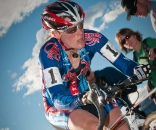 Katie Compton on her way to a crushing win at Boulder Cup 2009. © Dejan Smaic / sportifimages.com