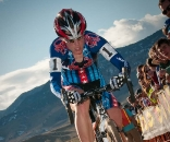 Katie Compton on her way to a crushing win at Boulder Cup 2009. ? Dejan Smaic / sportifimages.com