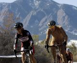 The front range of the Rockies formed the backdrop for riders on the course during the combined race of the Victory Circle Graphix Boulder Cup. © Greg Sailor - VeloArts.com
