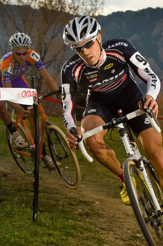 Jesse Anthony, cyclocrosser, gives chase. By Rob O'Dea