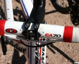 Brady opts for the alloy stem with Easton's EA70 bar and EA90 stem.  © Cyclocross Magazine