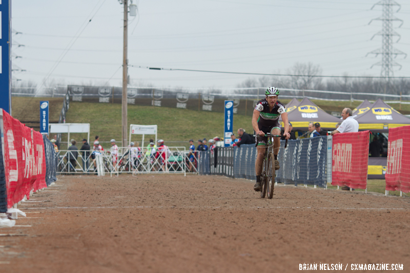 Gunnar Shogren (Backyard Bike Club) rode well during the Men's 50-54 heat race.  ©Brian Nelson