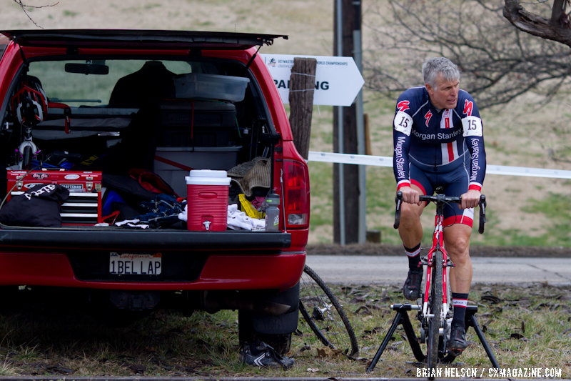 Chris Black (Morgan Stanley / Specialized) getting ready.  ©Brian Nelson