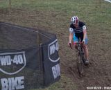 To brake or not to brake?  Slick conditions for Thomas Price (Trek Cyclocross Collective).  ©Brian Nelson