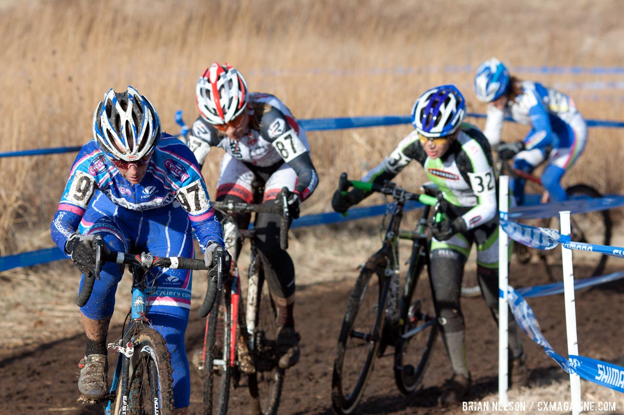Katrina Baumsteiger racing to fifth.  ©Brian Nelson
