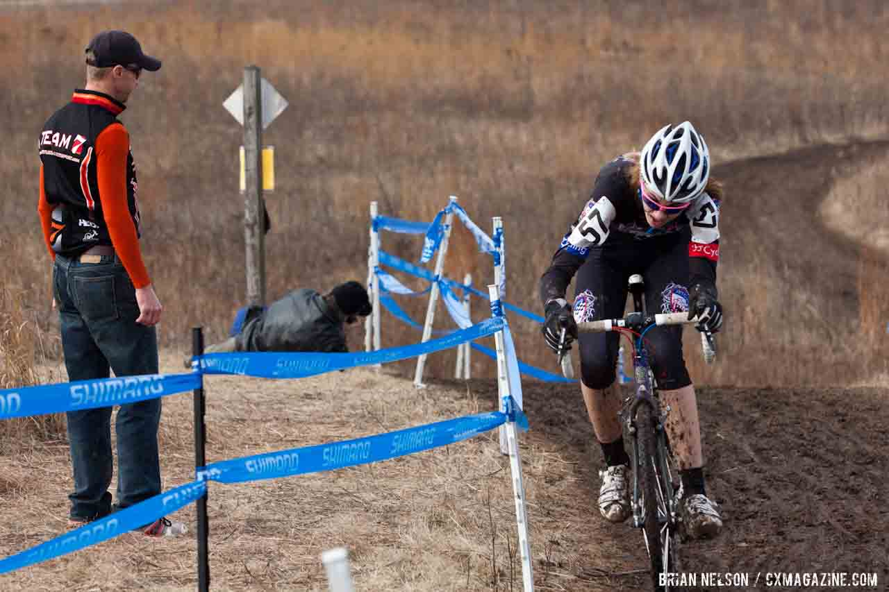 Laurel Rathburn made the climbs look easy.  ©Brian Nelson