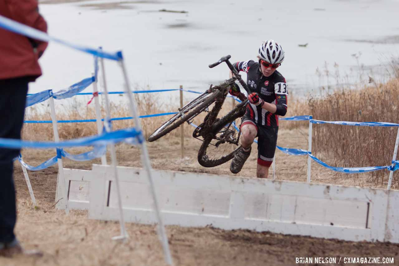 Cameron Beard powering to the podium.  ©Brian Nelson
