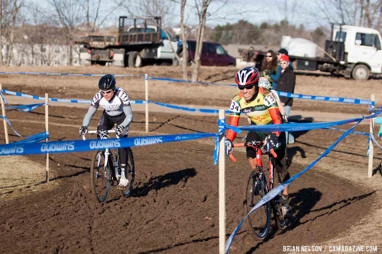 Racers and course tape took a pounding.  ©Brian Nelson