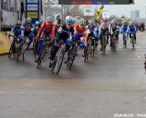 Lucie Chainel-Lefevre taking the holeshot at the Elite World Championships of Cyclocross 2013. © Brian Nelson