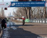 Ostenso crossing the line.  ©Brian Nelson