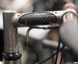 An intricately lugged titanium and carbon stem is the perfect complement to the unique frame. Bruce Gordon Cycles ©Cyclocross Magazine