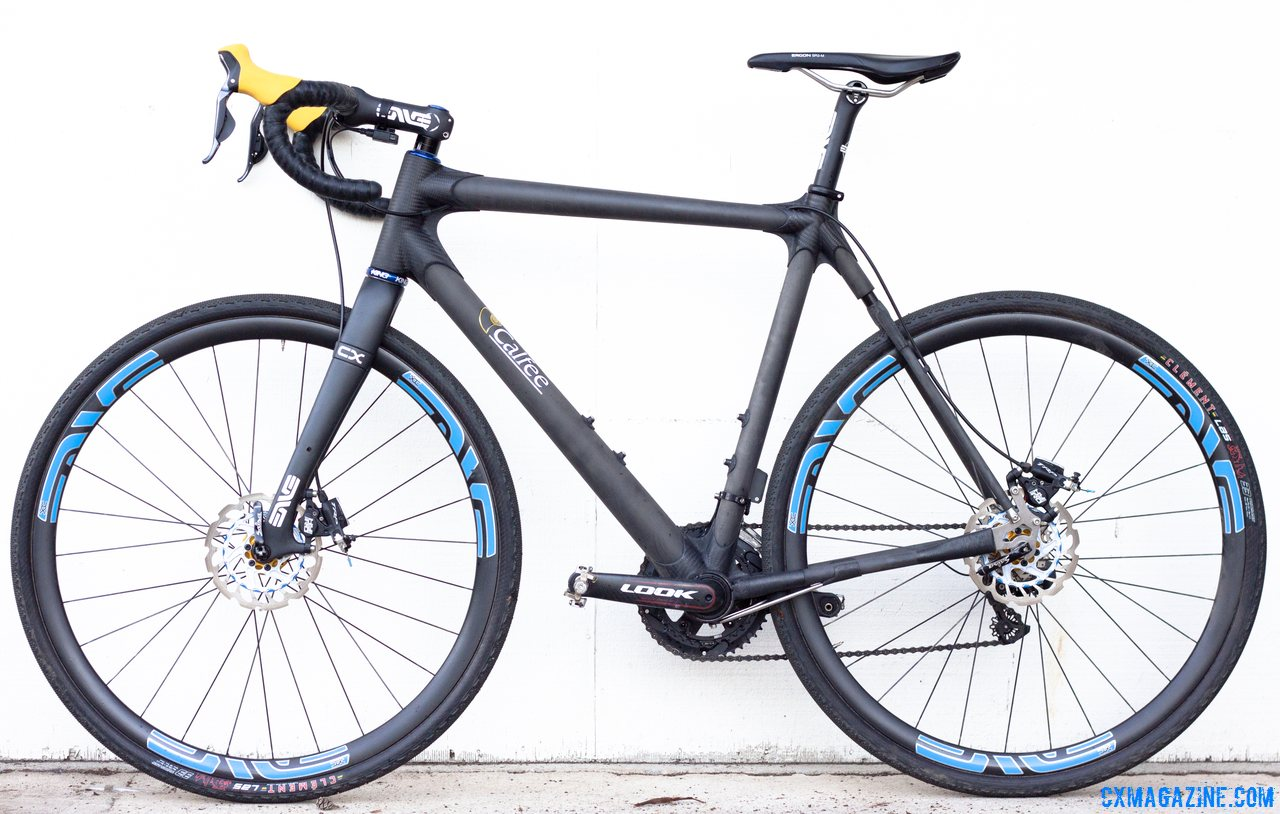 Calfee Design\'s Manta CX Prototype as ridden by CXM, and to be shown at NAHBS. Like any show bike, it\'s expensive, and limited in production but orders are being taken now. © Cyclocross Magazine