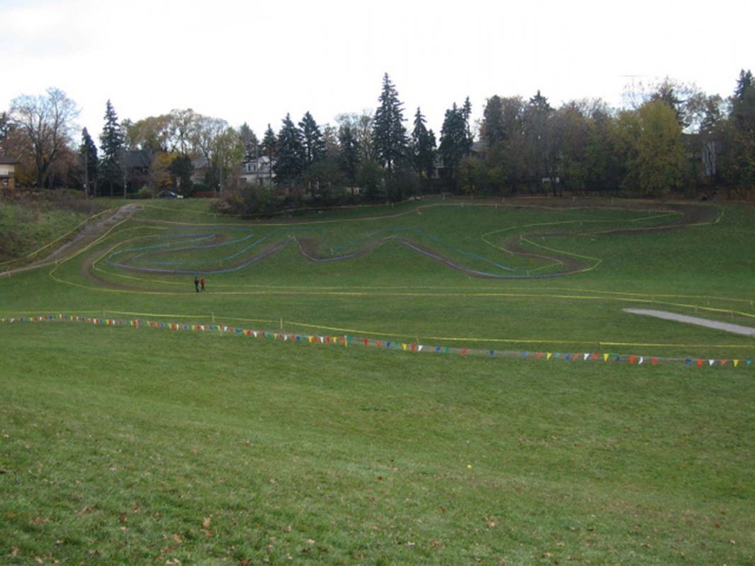 A shot of the tricky initials section of the course: \