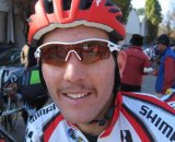 "Evan Guthrie (Rocky Mountain Bikes) sporting the start of his ""Movember"" © Norm Thibault"