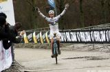 Mathieu van der Poel wins the Juniors race at Cauberg Cyclocross. © Bart Hazen