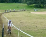 Helen Wyman establishing an early lead.  © Cyclocross Magazine