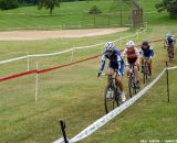 Gabby Day leads the chase group.  © Cyclocross Magazine