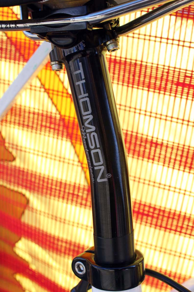 The seatpost is a laidback model from Thomson. ? Cyclocross Magazine