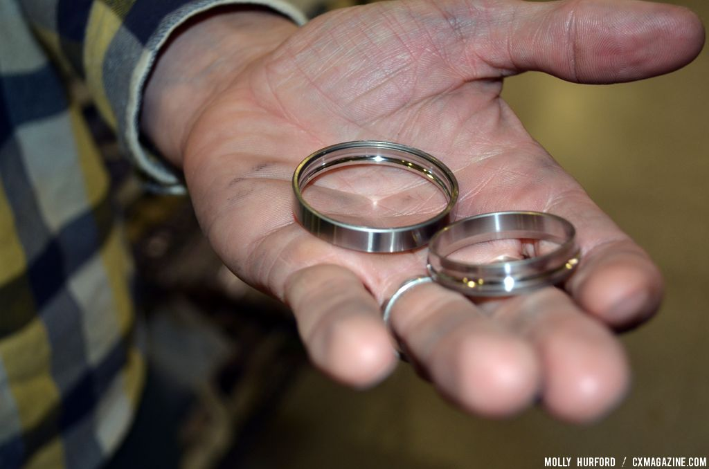 A close up of the bearings. © Cyclocross Magazine