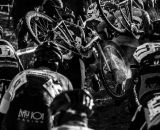 A scrum at the first dismount at the 2013 Cyclocross National Championships. © Chris Schmidt