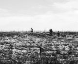 It got lonely on the hill at the 2013 Cyclocross National Championships. © Chris Schmidt