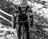 Compton builds her lead at the 2013 Cyclocross National Championships. © Chris Schmidt