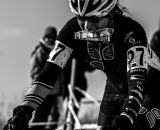 A rider grabs a handup at the 2013 Cyclocross National Championships. © Chris Schmidt