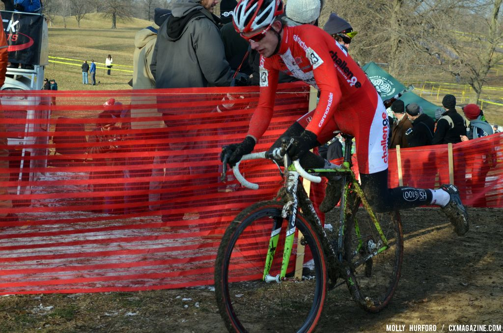 Denmark\'s Kenneth Hansen at Cincinnati Kings International Cyclocross. © Cyclocross Magazine