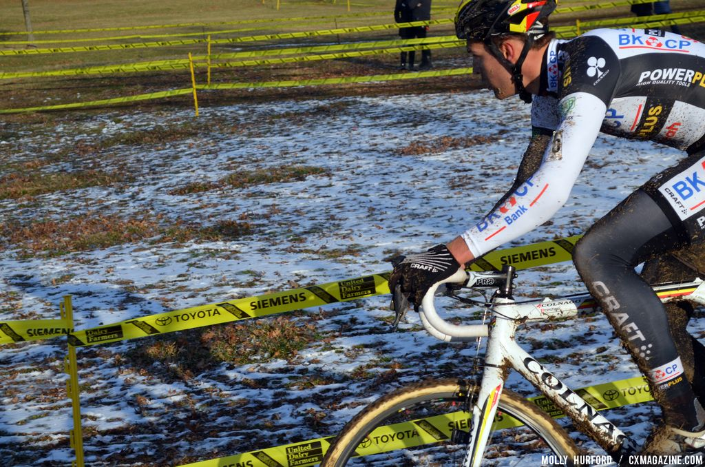 Bosmans goes in search of Albert at Cincinnati Kings International Cyclocross. © Cyclocross Magazine