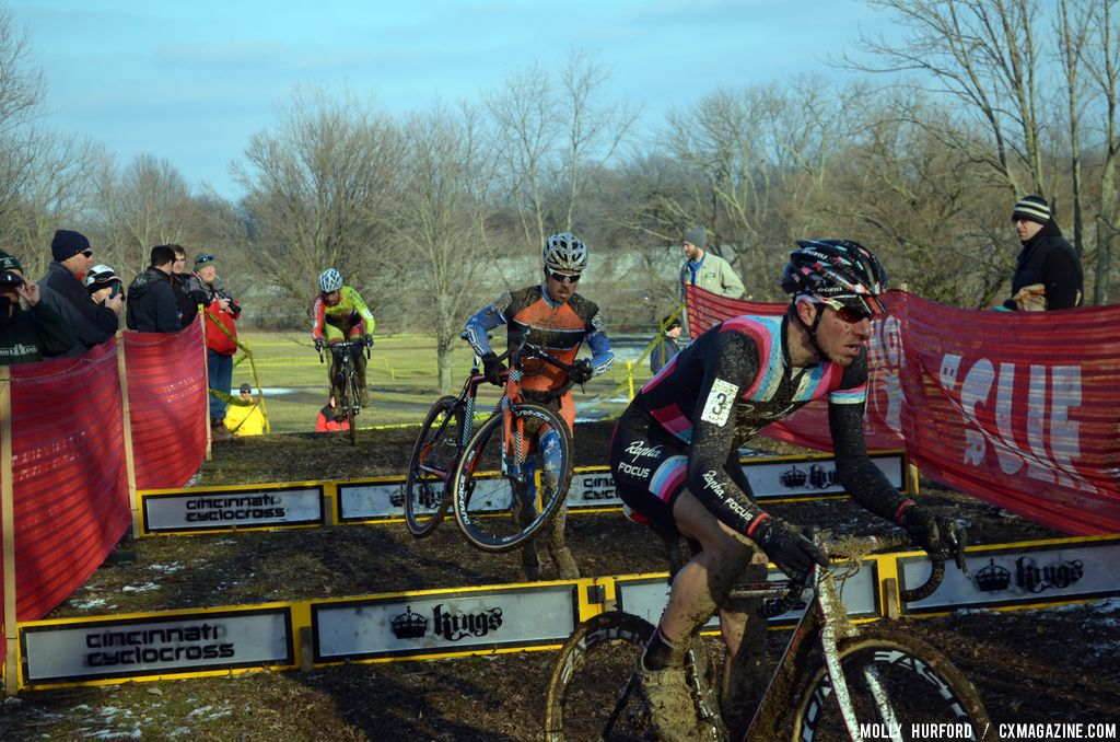 Powers looks tired but in control. © Cyclocross Magazine