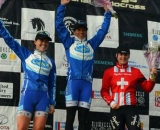 Women's podium at Cincinnati Kings International Cyclocross. © Cyclocross Magazine