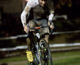 Johnson charging solo at the front at Kings CX After Dark.