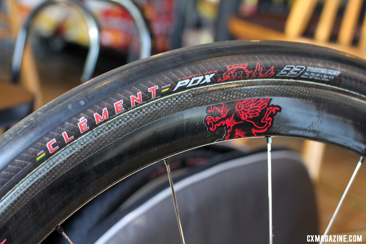 Clement cyclocross tubulars will aim to be 375 grams and sealant compatible. © Cyclocross Magazine