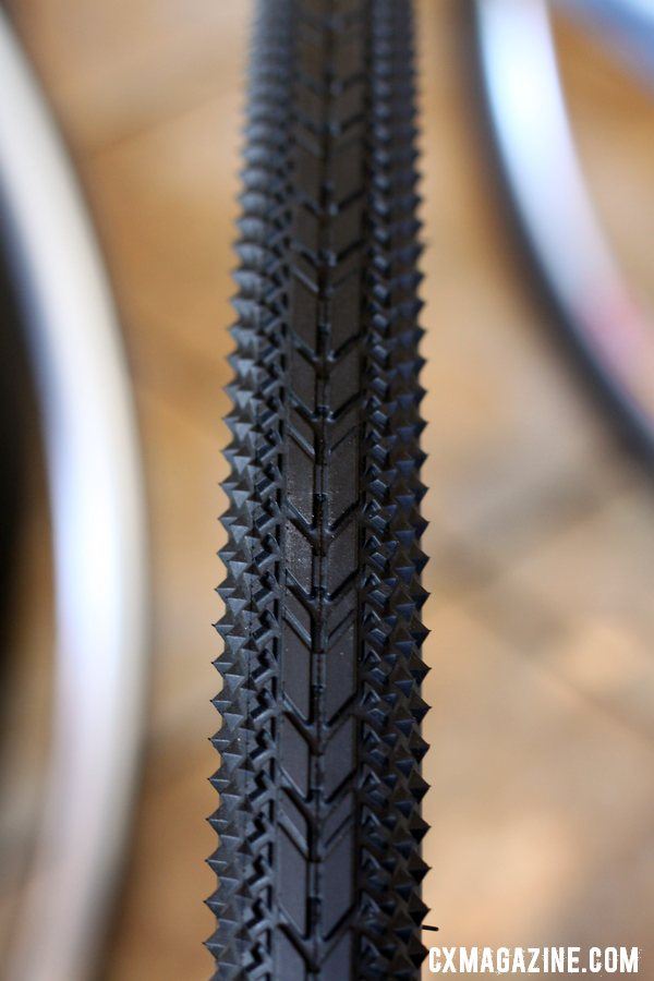 Clement has a new USH tire with a tread targeted for dirt roads, adventure riding, and touring. © Cyclocross Magazine