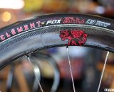 Clement has a slick-tread prototype tubular that will be offered in September.  © Cyclocross Magazine