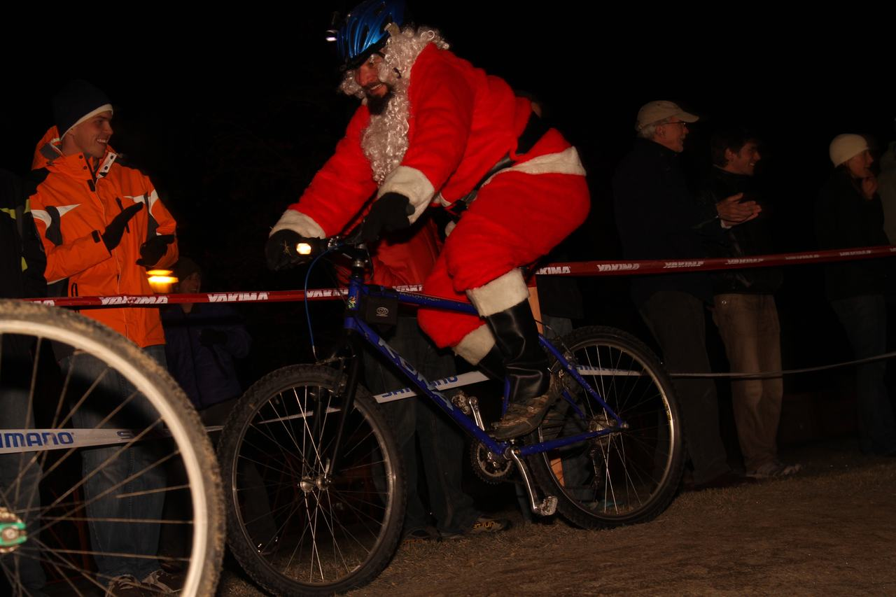 Two santas battled on the course.  ? Janet Hill