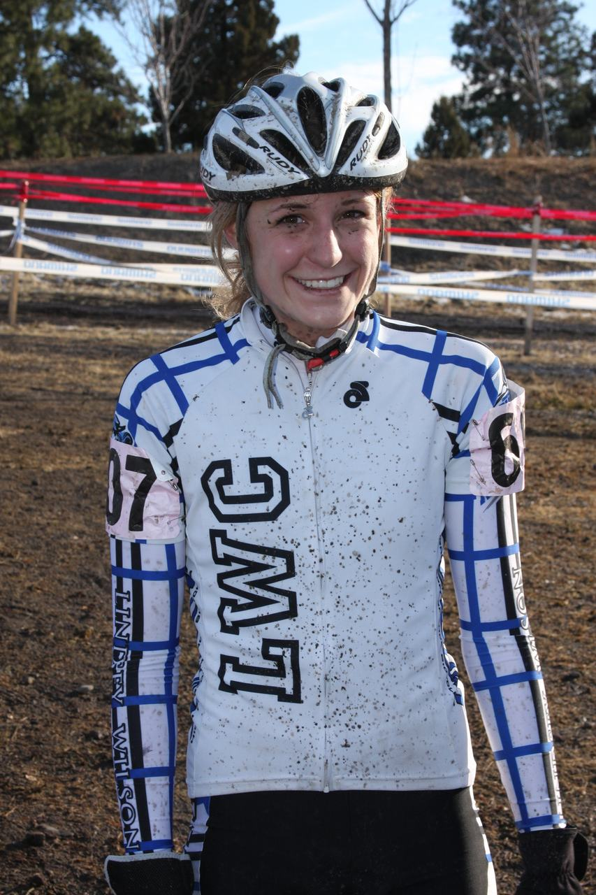 Ashley James, silver D1 medalist. Collegiate Women Cyclocross National Championships. ? Amy Dykema