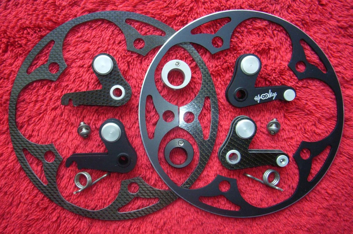 Spooky also offers great chain ring guards in carbon and aluminum © Ty Kurth