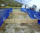 Two of the three barriers are right along the Dealer Camp exhibitor area, and may offer entertainment and interaction opportunites for spectators. © Cyclocross Magazine