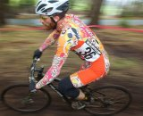 Krishna Dole raced to a fifth place on a mountain bike. © Cyclocross Magazine