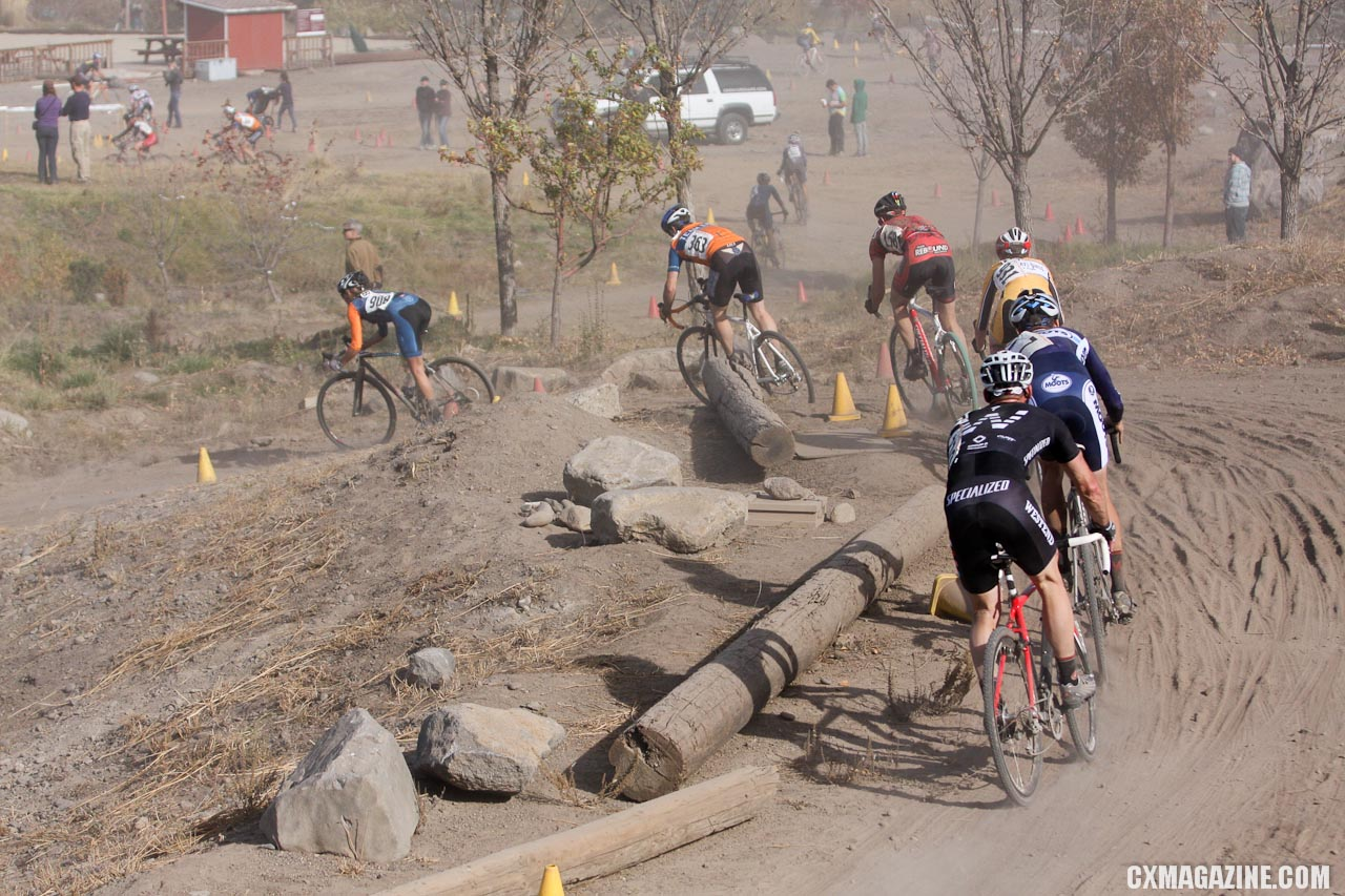 Rocks, logs and trees provided obstacles for the course. ©Pat Malach