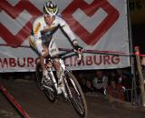 Stybar's BMX background benefited him and the crowd as he impressed with his handling skills. ? Bart Hazen