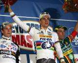 Albert (l), Stybar and Nys on the podium. ? Bart Hazen