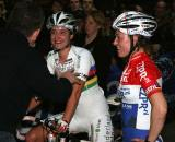 Vos and Van Den Brand enjoying the race under the lights. ? Bart Hazen