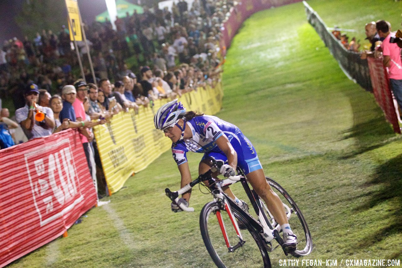 Nash solo off the front at Cross Vegas 2013. © Cathy Fegan-Kim / Cyclocross Magazine