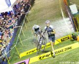 Trebon makes the barriers look short at Cross Vegas 2013. © Cathy Fegan-Kim / Cyclocross Magazine