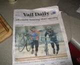 Cyclocross gets front-page coverage on Vail Daily