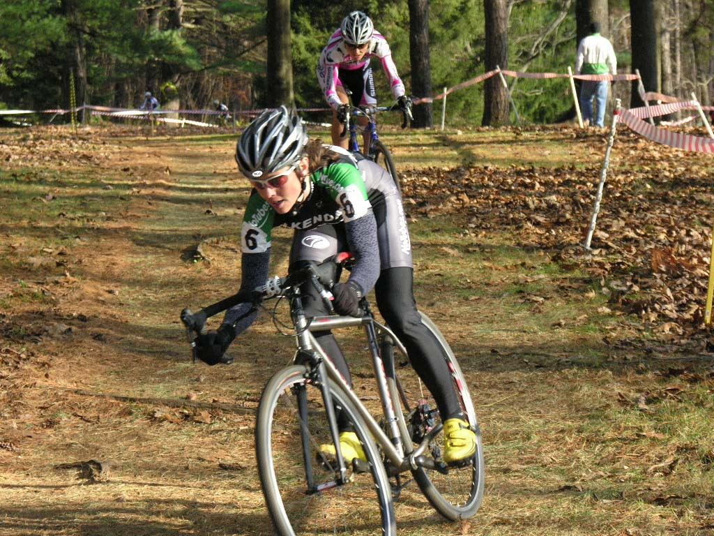 Mary McConneloug opened a gap with Elliott on the first lap and never looked back. ? Paul Weiss