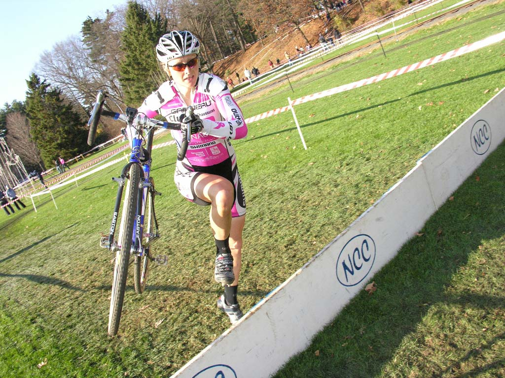 Natasha Elliott chased McConneloug all day but could not close the gap. ? Paul Weiss