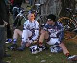 The Keogh brothers rest after the race. ? Paul Weiss